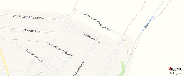Северная улица на карте деревни Константиновки с номерами домов