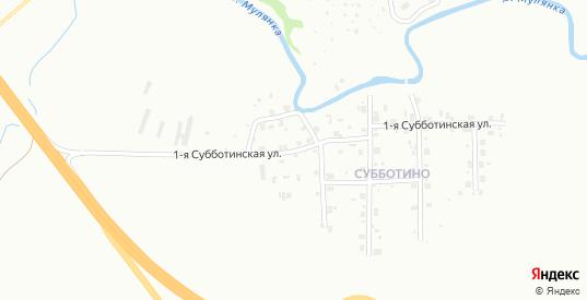Субботинская 1-я улица в Перми с номерами домов на карте. Спутник и схема онлайн