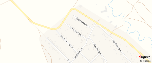 Степная улица на карте села Кинзебулатово с номерами домов