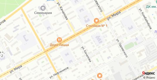 Улица Качалова в Перми с номерами домов на карте. Спутник и схема онлайн