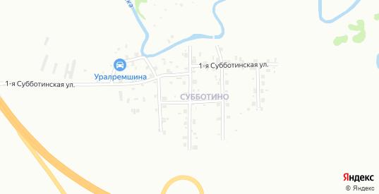 Субботинская 3-я улица в Перми с номерами домов на карте. Спутник и схема онлайн