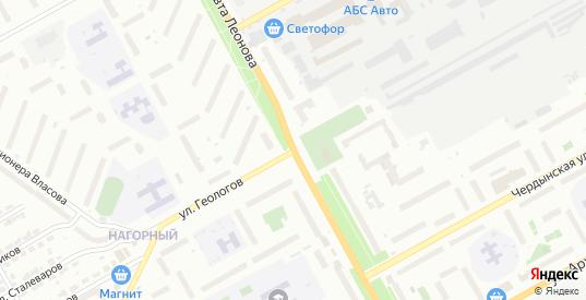 Улица Геологов в Перми с номерами домов на карте. Спутник и схема онлайн