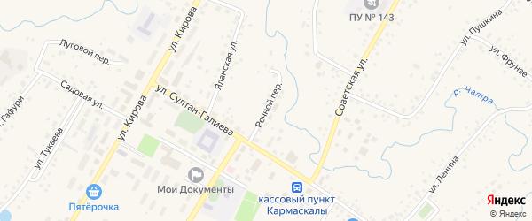 Речной переулок на карте села Кармаскалы с номерами домов