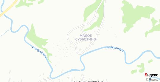 Мало-Субботинская 1-я улица в Перми с номерами домов на карте. Спутник и схема онлайн