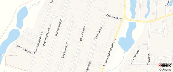 Трактовая улица на карте деревни Бурцево с номерами домов