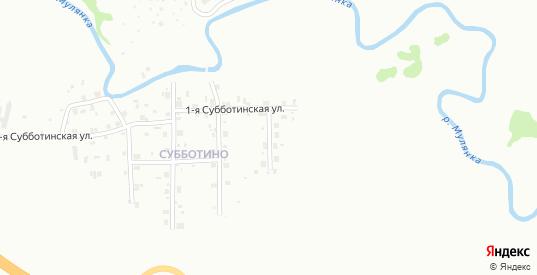 Субботинская 5-я улица в Перми с номерами домов на карте. Спутник и схема онлайн