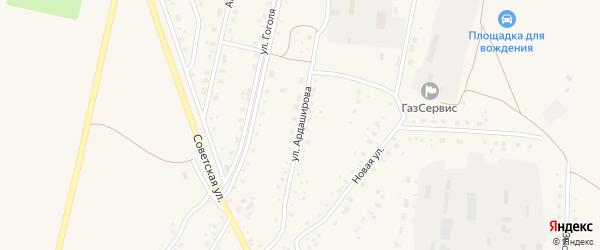 Улица Ардаширова на карте села Кармаскалы с номерами домов