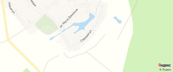 Садовая улица на карте деревни Кулушево с номерами домов