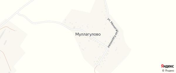 Улица Фарита Гайсина на карте деревни Муллагулово Башкортостана с номерами домов