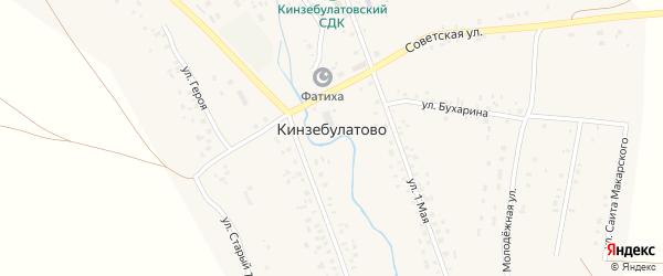 Молодежная улица на карте села Кинзебулатово с номерами домов