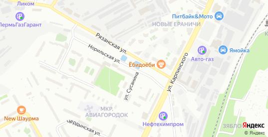 Норильская улица в Перми с номерами домов на карте. Спутник и схема онлайн
