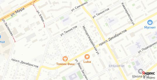 Молодогвардейская 2-я улица в Перми с номерами домов на карте. Спутник и схема онлайн