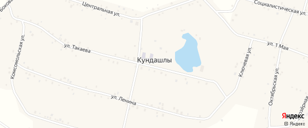 Улица Такаева на карте деревни Кундашлы с номерами домов