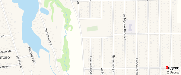 Вишневая улица на карте деревни Шамонино с номерами домов