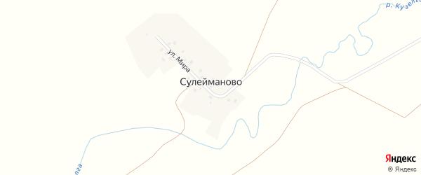 Улица Мира на карте деревни Сулейманово с номерами домов