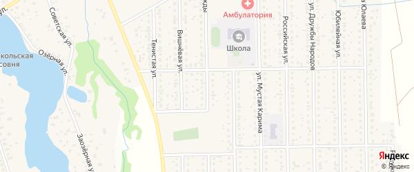Улица Надежды на карте деревни Шамонино с номерами домов