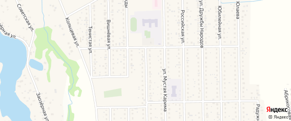 Лучистая улица на карте деревни Шамонино с номерами домов