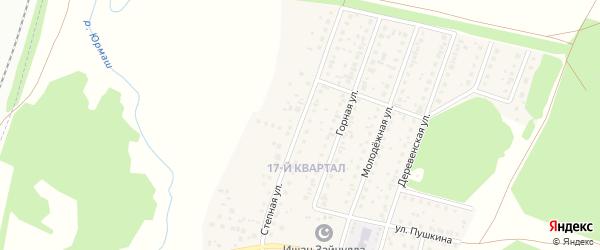 Степная улица на карте деревни Шамонино Башкортостана с номерами домов