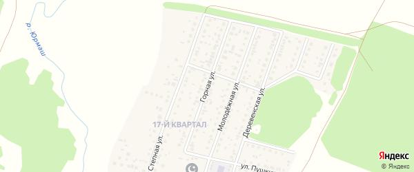 Горная улица на карте деревни Шамонино Башкортостана с номерами домов