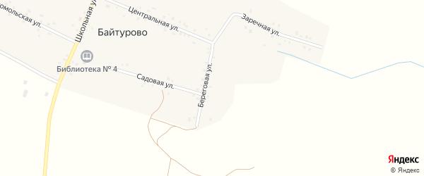 Береговая улица на карте деревни Байтурово с номерами домов
