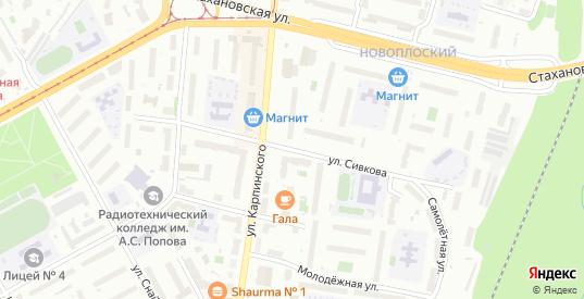 Улица Сивкова в Перми с номерами домов на карте. Спутник и схема онлайн