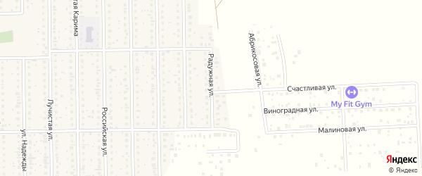 Радужная улица на карте деревни Шамонино Башкортостана с номерами домов