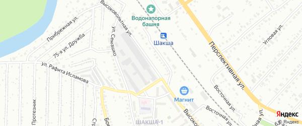 Высоковольтная улица на карте Уфы с номерами домов
