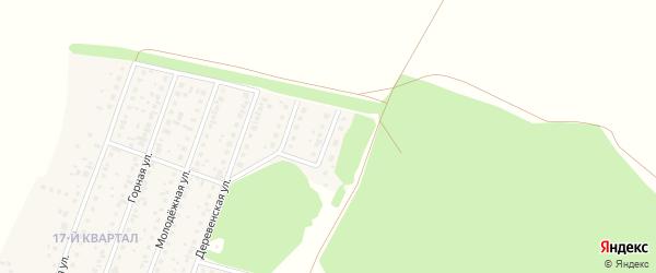 Ключевая улица на карте деревни Шамонино Башкортостана с номерами домов