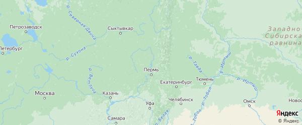 Карта Пермского края с городами и районами