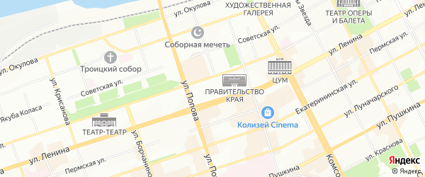 ГСК-4а Маршрутная территория на карте Перми с номерами домов