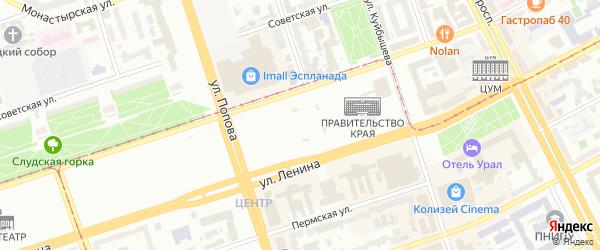 Тавричанская улица на карте Перми с номерами домов