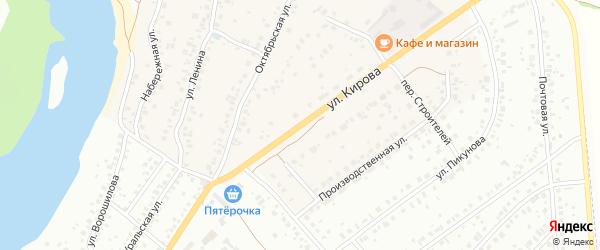 Улица Кирова на карте деревни Князево с номерами домов
