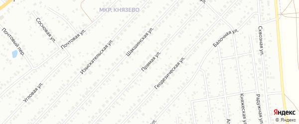Прямая улица на карте Уфы с номерами домов