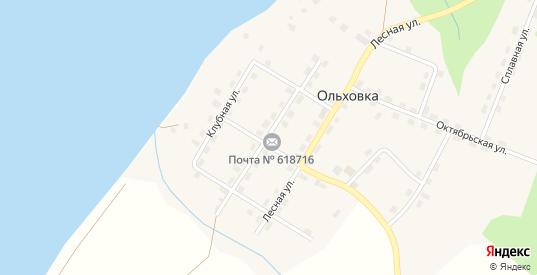 Улица Революции в поселке Ольховка в Добрянке с номерами домов на карте. Спутник и схема онлайн