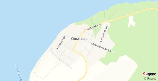 Карта поселка Ольховка в Добрянке с улицами, домами и почтовыми отделениями со спутника онлайн