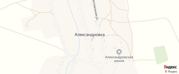 Заречная улица на карте села Александровки с номерами домов