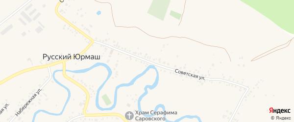 Советская улица на карте села Русского Юрмаша с номерами домов