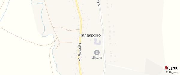 Школьная улица на карте деревни Калдарово Башкортостана с номерами домов