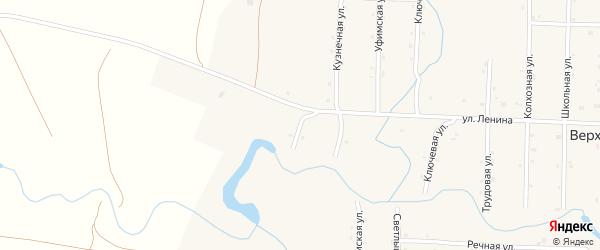 Западная улица на карте села Верхотора Башкортостана с номерами домов