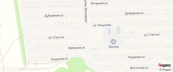 Счастья улица на карте деревни Дорогино с номерами домов