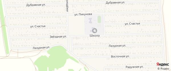 Звездная улица на карте деревни Дорогино с номерами домов