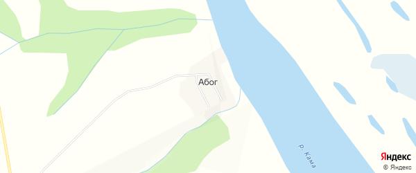 Карта деревни Абога в Пермском крае с улицами и номерами домов