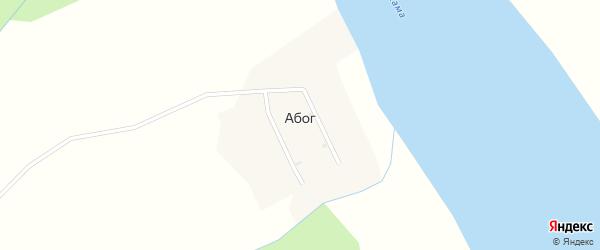 Камская улица на карте деревни Абога Пермского края с номерами домов