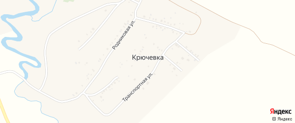 Транспортная улица на карте деревни Крючевки с номерами домов