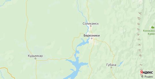 Карта Усольского района Пермского края с городами и населенными пунктами
