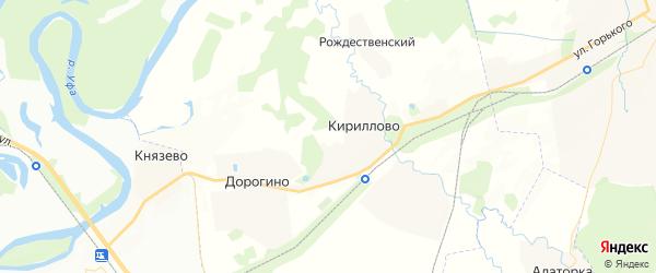 Карта Кирилловского сельсовета Республики Башкортостана с районами, улицами и номерами домов