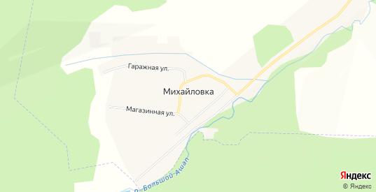 Карта деревни Михайловка в Пермском крае с улицами, домами и почтовыми отделениями со спутника онлайн