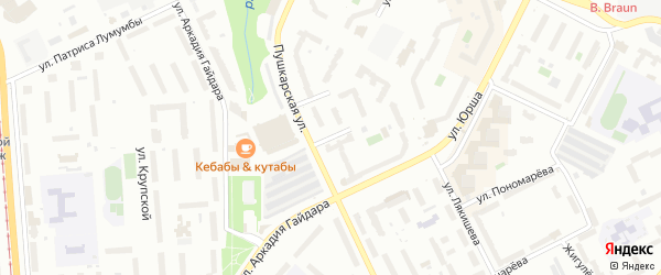 Костромская улица на карте Перми с номерами домов