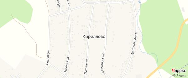 Кленовая улица на карте деревни Кириллово Башкортостана с номерами домов
