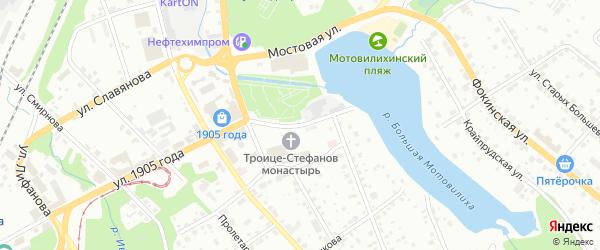 Красная площадь на карте Перми с номерами домов